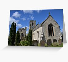 St Nicholas West Tanfield Greeting Card