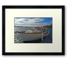 The family boat Framed Print