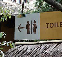 saung angklung udjo toilet sign by bayu harsa