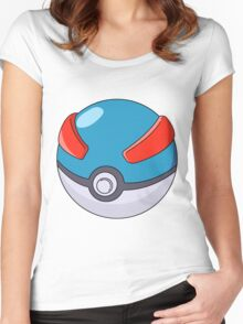 Super Poke Ball Women's Fitted Scoop T-Shirt