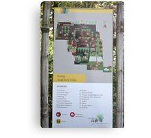 saung angklung udjo area map sign Metal Print