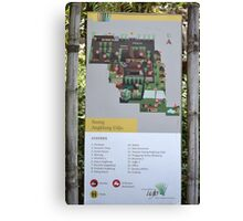 saung angklung udjo area map sign Canvas Print