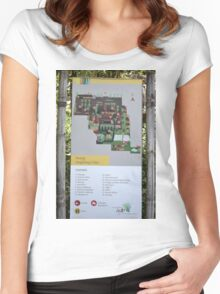 saung angklung udjo area map sign Women's Fitted Scoop T-Shirt