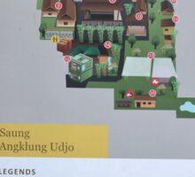 saung angklung udjo area map sign Sticker