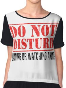 Do Not Disturb Chiffon Top