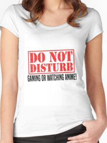 Do Not Disturb Women's Fitted Scoop T-Shirt