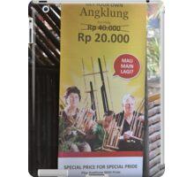 saung angklung udjo banner iPad Case/Skin