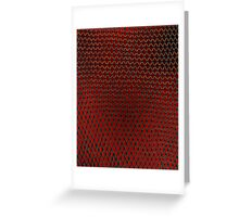 Net Art - 1 Layer - Red Hot Greeting Card