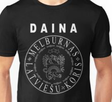 Daina | unofficial | rock'n'roll | white text Unisex T-Shirt