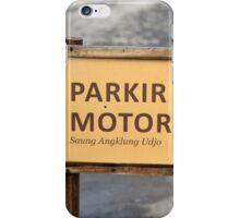 saung angklung udjo parking sign iPhone Case/Skin