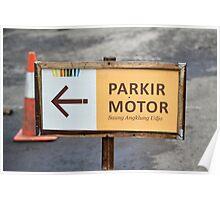saung angklung udjo parking sign Poster