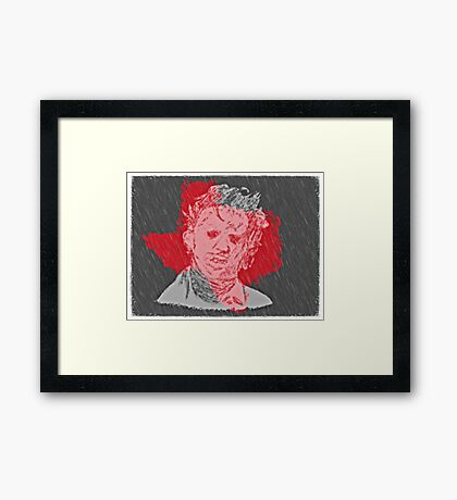 leather face is back Framed Print