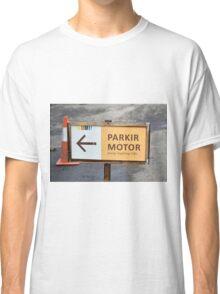 saung angklung udjo parking sign Classic T-Shirt