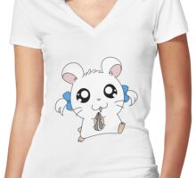 hamtaro Women's Fitted V-Neck T-Shirt
