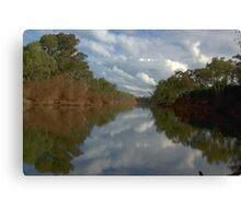 Tranquil river scene Canvas Print
