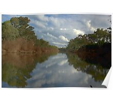 Tranquil river scene Poster