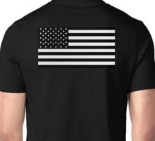 American Flag, STARS & STRIPES, USA, America, Americana, Funeral, Mourning, in Mourning, Black on Black Unisex T-Shirt
