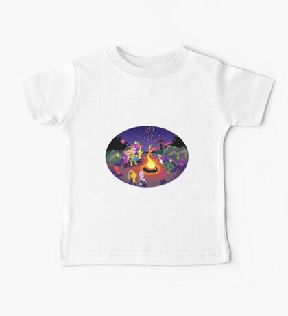 Nintendo Pikmin and Olimar Campfire Baby Tee