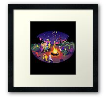 Nintendo Pikmin and Olimar Campfire Framed Print