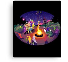 Nintendo Pikmin and Olimar Campfire Canvas Print