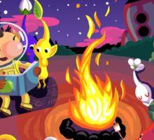 Nintendo Pikmin and Olimar Campfire Sticker