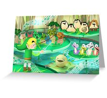 Legend of Zelda Forest Friends Poster Greeting Card