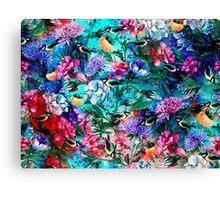 Flowers & Birds Canvas Print