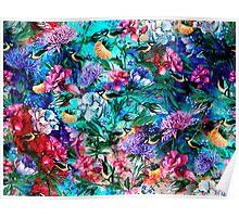 Flowers & Birds Poster