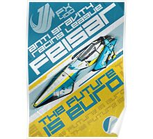 The Future Is Euro Poster