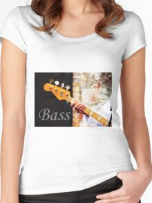 Bass Guitar  Women's Fitted Scoop T-Shirt