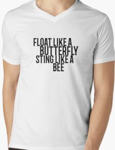 Float Like A Butterfly Muhammad Ali Quote Cool Badass Mens V-Neck T-Shirt
