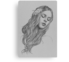 Patience digital illustration of a young girl Canvas Print