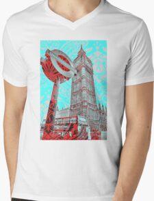 London Underground  Mens V-Neck T-Shirt