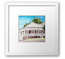 Highgate Hill Queenslander Framed Print
