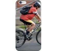 man riding bicycle iPhone Case/Skin