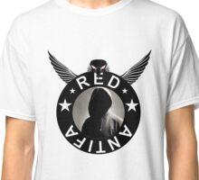 Red Antifa Hooded Figure (Black Border) Classic T-Shirt
