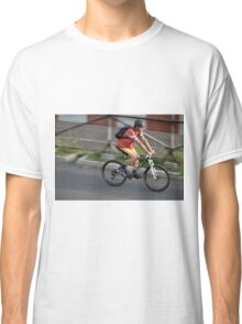 man riding bicycle Classic T-Shirt