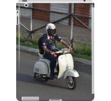 man riding scooter iPad Case/Skin