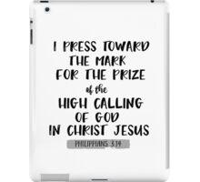 Philippians 3.14 Bible Verse iPad Case/Skin