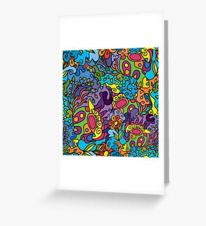 Psychedelic LSD Trip Ornament 0001 Greeting Card