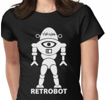 RETROBOT (white) Womens Fitted T-Shirt