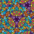 Psychedelic LSD Trip Ornament 0002 by Andrei Verner