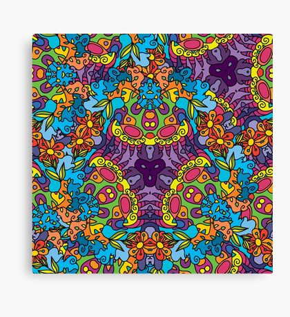 Psychedelic LSD Trip Ornament 0002 Canvas Print