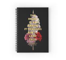 The Heart is an Arrow Spiral Notebook