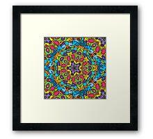 Psychedelic LSD Trip Ornament 0003 Framed Print