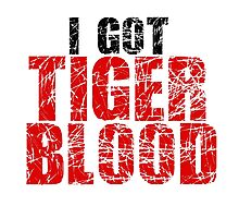 Tiger Blood Charlie Sheen Crazy Funny Quote Random Badass Photographic Print