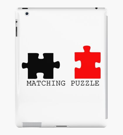 Puzzle Piece Matching Black and Red Sarcastic iPad Case/Skin