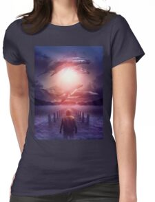The Space Between Dreams and Reality Womens Fitted T-Shirt