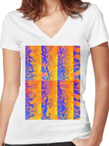 Psychedelic Dream  Women's Fitted V-Neck T-Shirt