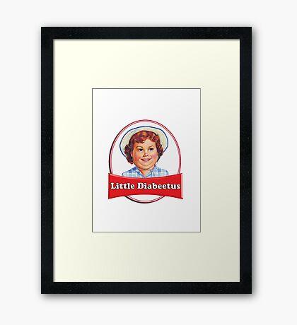 Little Diabeetus (little Debbie) 'lil debbie logo parody Framed Print